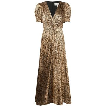 leopard print v-neck dress