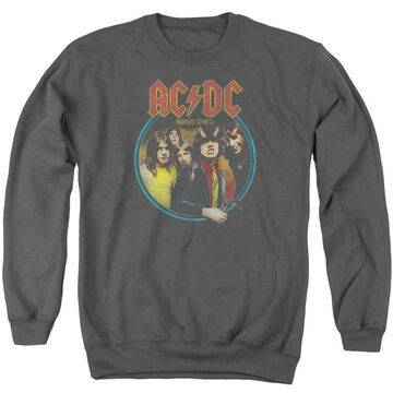 ACDC101-AS-4 ACDC Highway to Hell-Adult Crewneck Sweatshirt, Charcoal - Extra Large