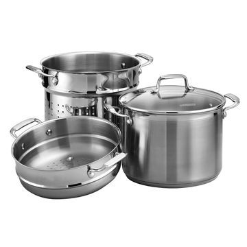 Tramontina Gourmet Tri-Ply Base 4-pc. 8-qt. Stainless Steel Multi-Cooker