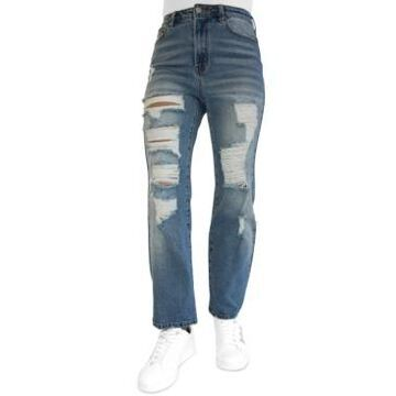 Almost Famous Juniors' Ripped Dad Jeans