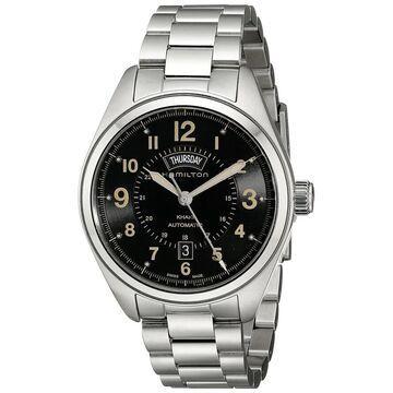 Hamilton Men's H70505933 'Khaki Field' Automatic Stainless Steel Watch (Hamilton Men's H70505933 Stainless steel)
