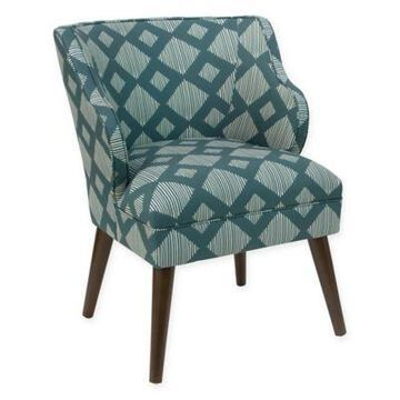 Skyline Furniture Modern Arm Chair in Teal