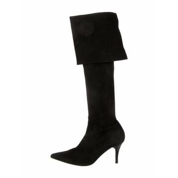 Suede Boots Black