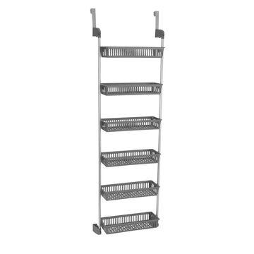 Household Essentials Over-the-Door 6-Basket Storage Rack