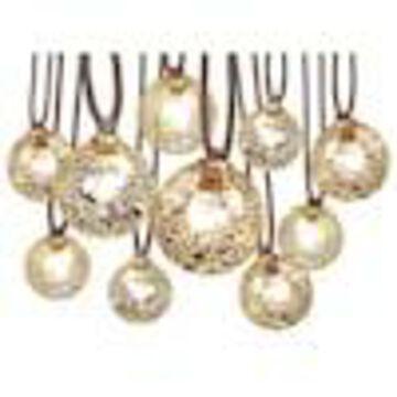 allen + roth 10.5-ft 10-Light Mercury Glass-Shade Plug-In Globe String Lights