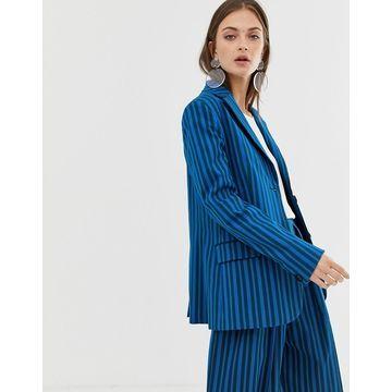 ASOS WHITE tonal stripe blazer