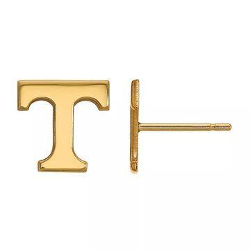 LogoArt Tennessee Volunteers 14K Yellow Gold XS Post Earrings, Women's