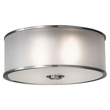 Sea Gull Lighting Casual Luxury Flushmount Light - Color: Silver - Size: 2 light - FM291EN3/BS