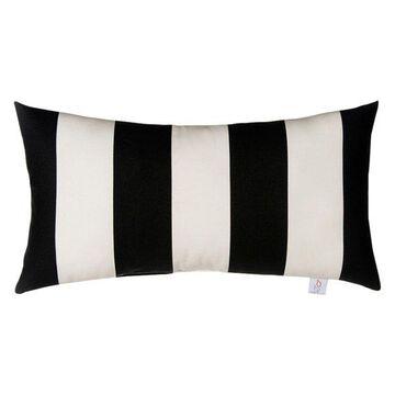 Pippin Black and White Stripe Rectangular Pillow