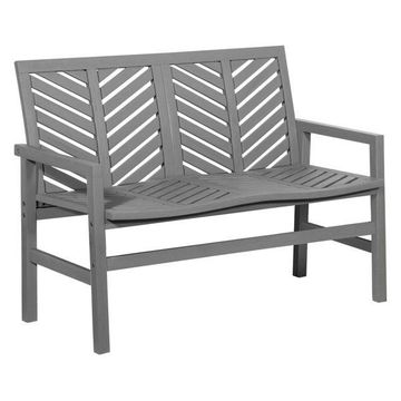 Offex Outdoor Chevron Love Seat, Gray Wash