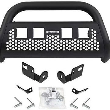 2014 Dodge Ram Go Rhino RC2 LR Bull Bar, Without Lights in Black, With cutouts for 4 light cubes