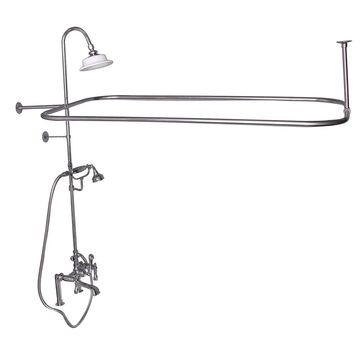 Barclay Polished Chrome 3-Handle Residential Deck-Mount Roman Bathtub Faucet with Hand Shower   4065-ML2-CP