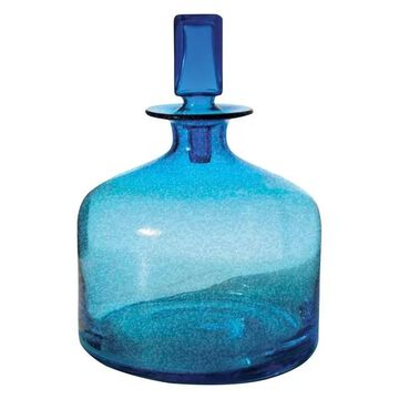 Lazy Susan Pool Blue Decanter, Small