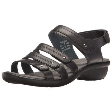 Propet Womens Aurora Leather Open Toe Casual Strappy Sandals