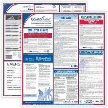 TFP, TFPCRPS01, ComplyRight Labor Law Poster Service, 1 Each, Blue