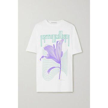 Christopher Kane - Anthomania Oversized Printed Cotton-jersey T-shirt - White