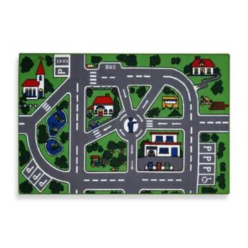 Fun Rugs Streets 4-Foot 3-Inch X 6-Foot 6-Inch Area Rug