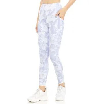 Rbx Women's Peached Printed 7/8 Ankle Length Leggings With Pocket - -