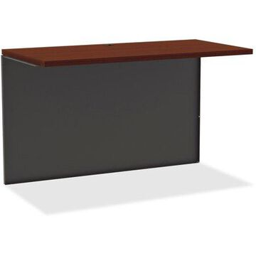 Lorell Mahogany Laminate/Charcoal Modular Desk Series