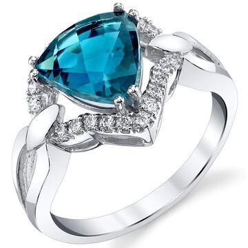 Oravo 14k White Gold London Blue Topaz Regalia Ring 2.5 carat (7)