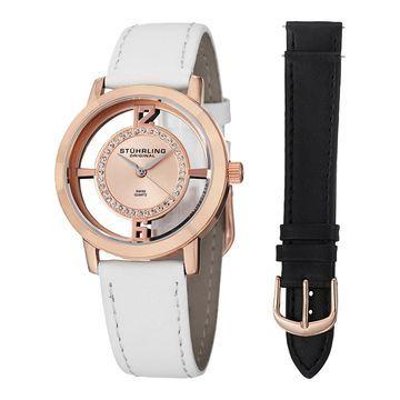Stuhrling Original Women's Winchester Tiara Watch With Interchangeable Strap