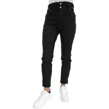 Almost Famous Juniors' High-Rise Paperbag Jeans