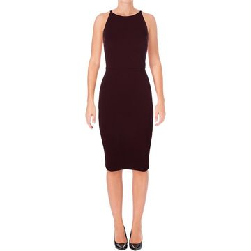 Taylor Womens Party Dress Lace Back Midi