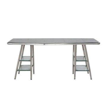 Acme Furniture Brancaster Writing Desk, Aluminum