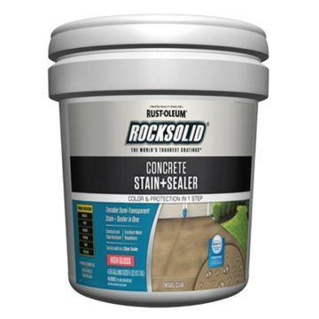 Rust-OleumA 322853 RockSolidA Concrete Stain + Sealer, High Gloss, 5-Gallon