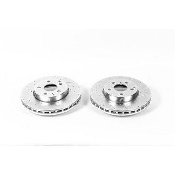 Power Stop EBR697XPR Evolution Drilled & Slotted Rotors -Front