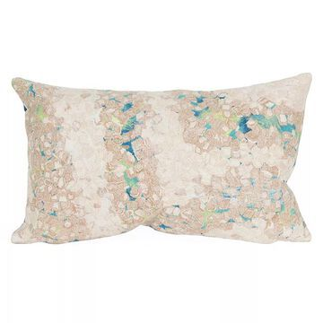 Liora Manne Visions III Elements Indoor Outdoor Oblong Throw Pillow, Blue, 12X20
