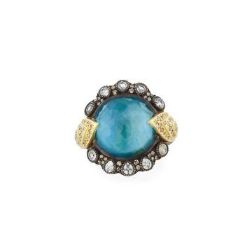 Old World Triplet, Diamond & Sapphire Hermes Ring