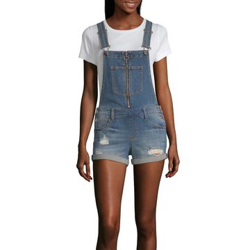 Almost Famous Sleeveless Shortalls-Juniors