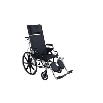 Drive Medical Viper Plus GT Full Reclining Wheelchair, Detachable Desk Arms, 18