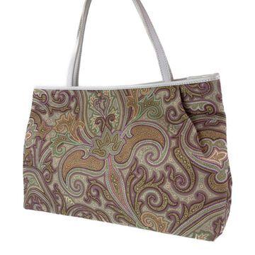 Etro Purple Cotton Handbags