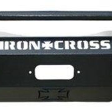 Iron Cross IRO22-425-17 2017 F250, F350 Heavy Duty Series Full Width Front Winch HD Bumper with Push Bar, Black