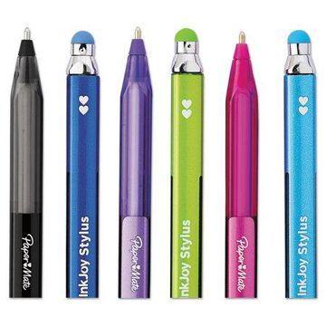 Paper Mate InkJoy 100 Stick Stylus Ballpoint Pens, 1mm, Assorted, Dozen -PAP1951350