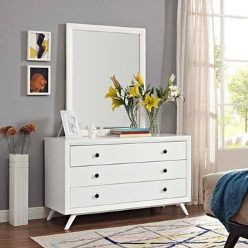 Modway Tracy Dresser and Mirror in White