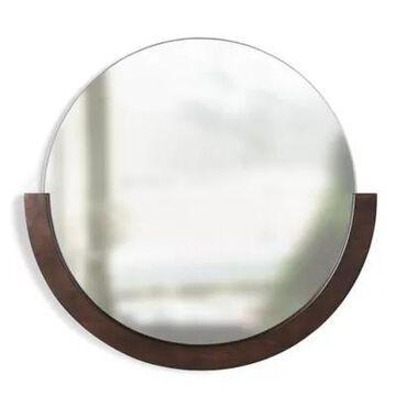 """Umbra Mira 21"""" Wall Mirror In Aged Walnut"""