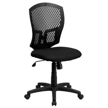 Flash Furniture Black Contemporary Adjustable Height Swivel Task Chair