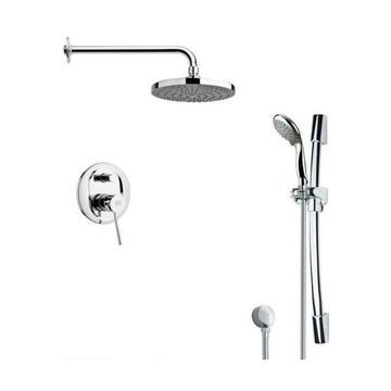 Nameeks SFR7166 Remer Single Handle Shower System Faucet, Chrome