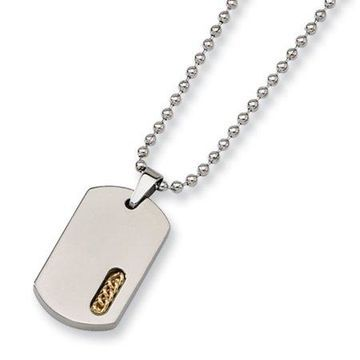 Primal Steel Titanium Yellow IP-plated 22in Necklace