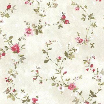 Brewster Floral Pink Sarafina Wallpaper