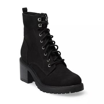 Sonoma Goods For Life Spotted Women's High Heel Combat Boots, Girl's, Size: 5, Black