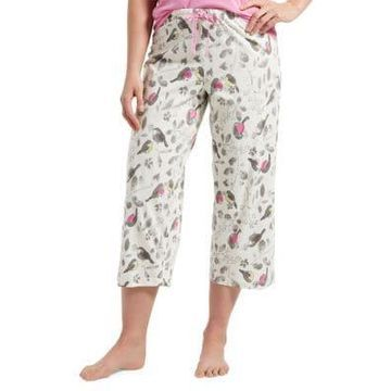 Plus Singing Robin Capri Pajama Pants