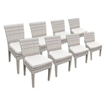 TK Classic Fairmont Patio Dining Side Chair in Beige (Set of 8)