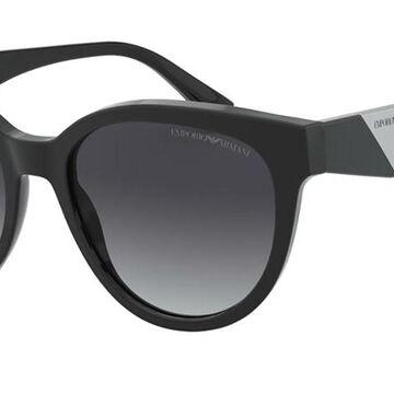 Emporio Armani EA4140F Asian Fit 50018G Womenas Sunglasses Black Size 55