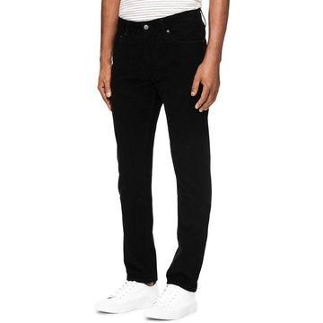 Calvin Klein Jeans Mens Corduroy Pants Low-Rise Slim Leg