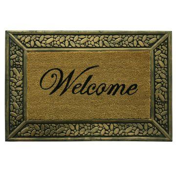 Bacova Guild Pebble Welcome Rectangular Outdoor Doormat