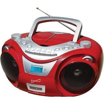 Supersonic SC-739BT RED Portable Bluetooth Audio System (Red)